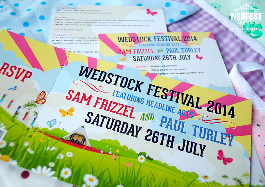 wedstock festival wedding invites