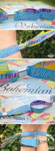festival wedding wristband favours