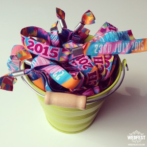 personalised festival wristbands