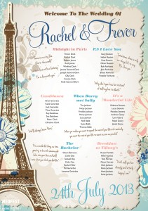 romantic movies wedding table planner