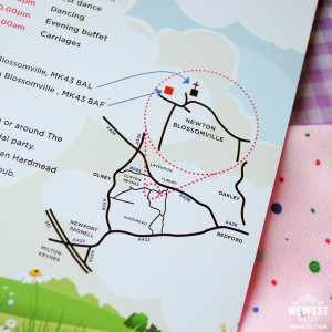 wedding information card map