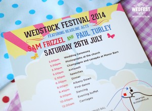 wedstock festival wedding stationery