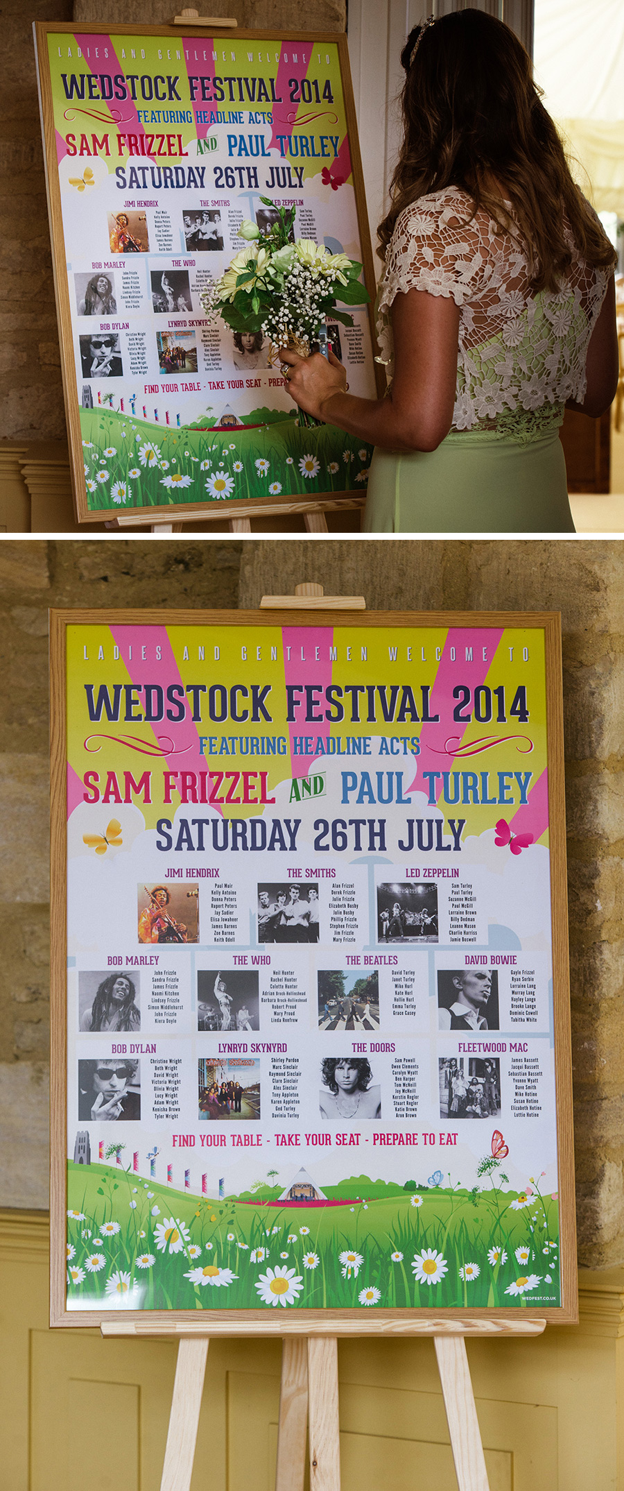 wedstock festival wedding table plan