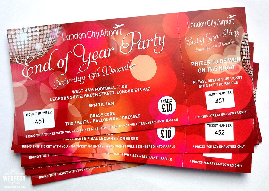 Company Christmas Party Invites For London City Airport