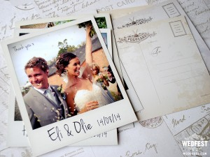Wedfest Polaroid Wedding Cards