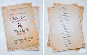 celebrity wedding order of service