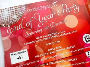corporate event party invitation tickets