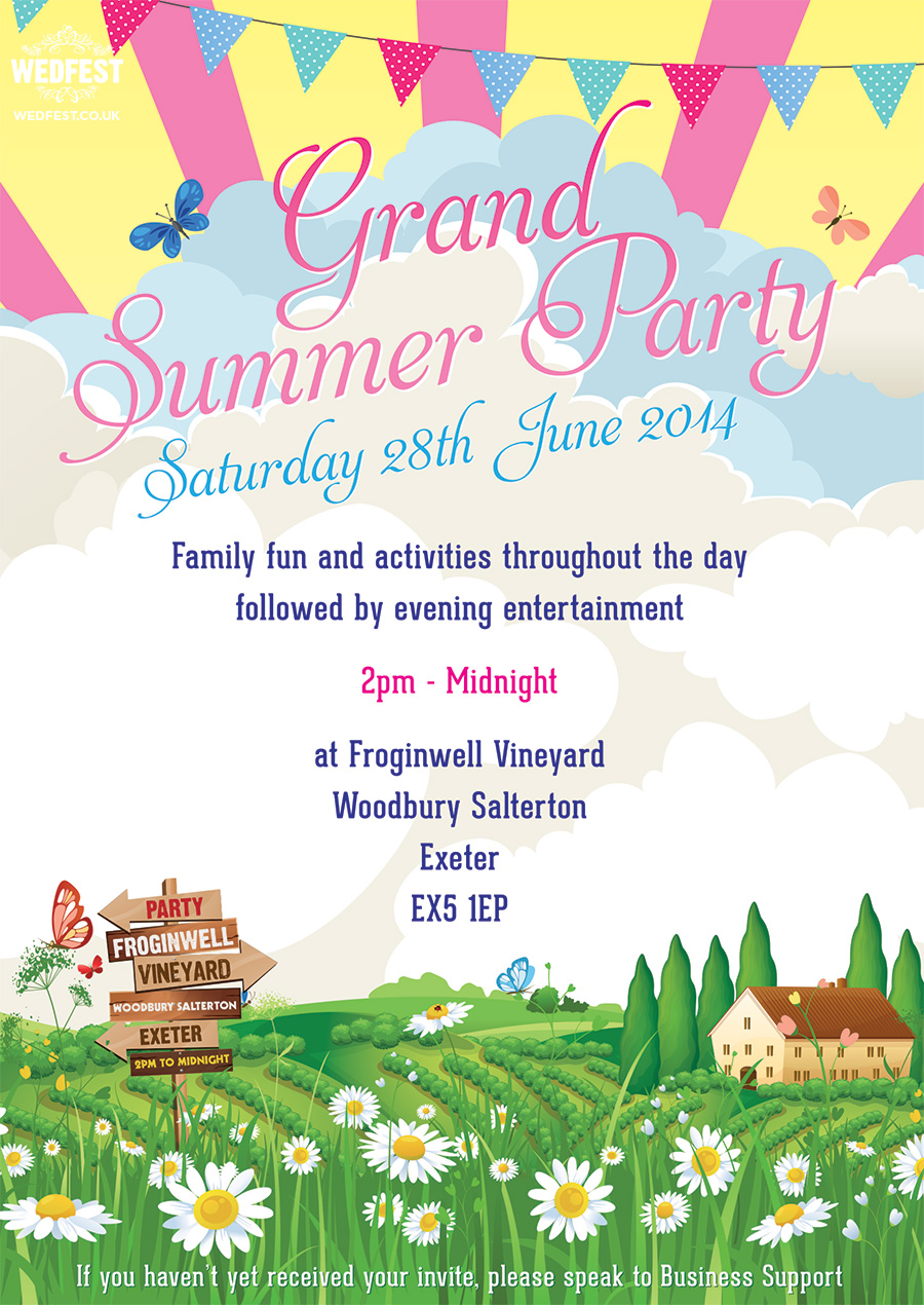 corporate event summer party poster design