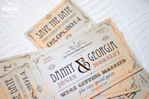 danny jones georgia horsley celebrity-wedding save the date cards