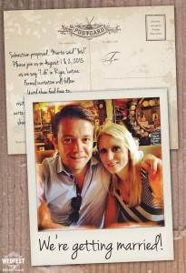 instagram polaroid wedding save the date cards