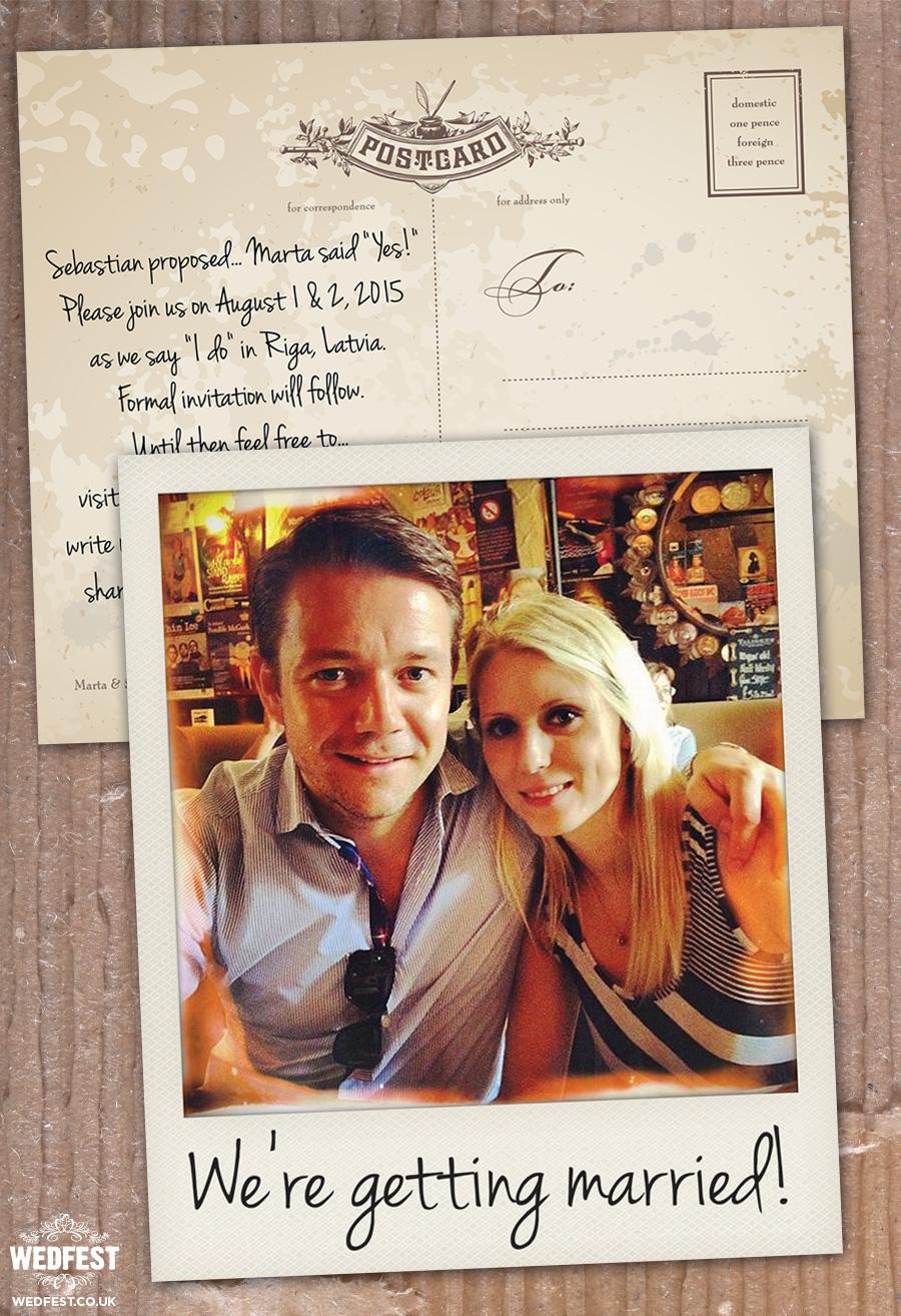instagram polaroid wedding save the date cards