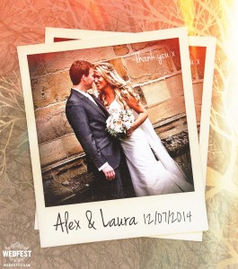 instagram polaroid wedding thank you cards