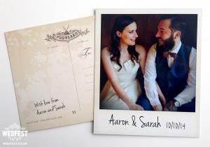 polaroid instagram photos wedding thank you card