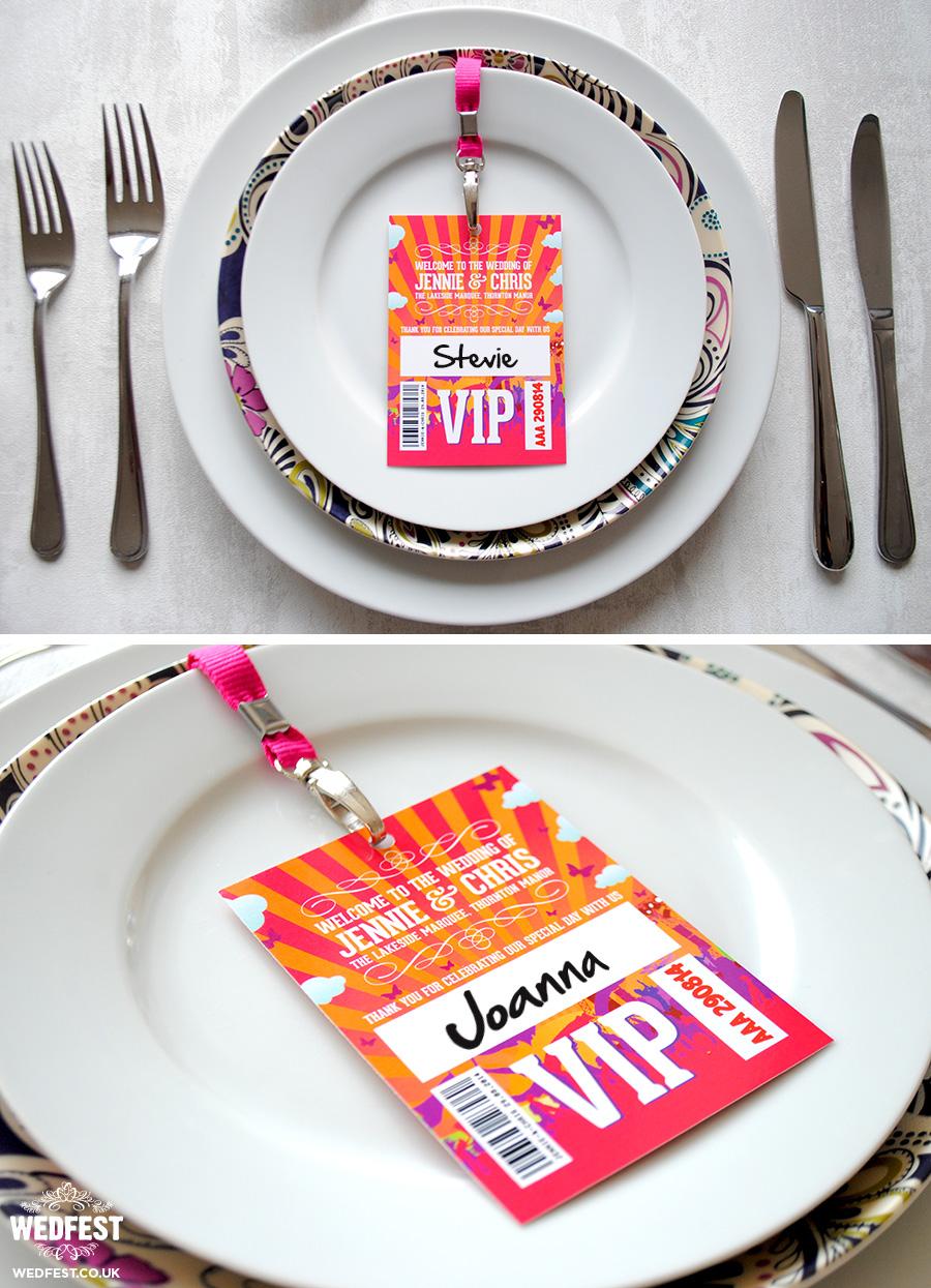 vip lanyard wedding place name cards