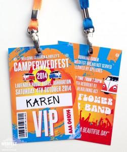 vw campervan festival wedding stationery