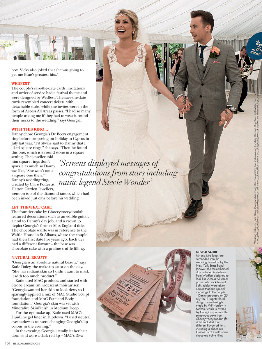 wedfest hello fashion monthly magazine danny jones wedding