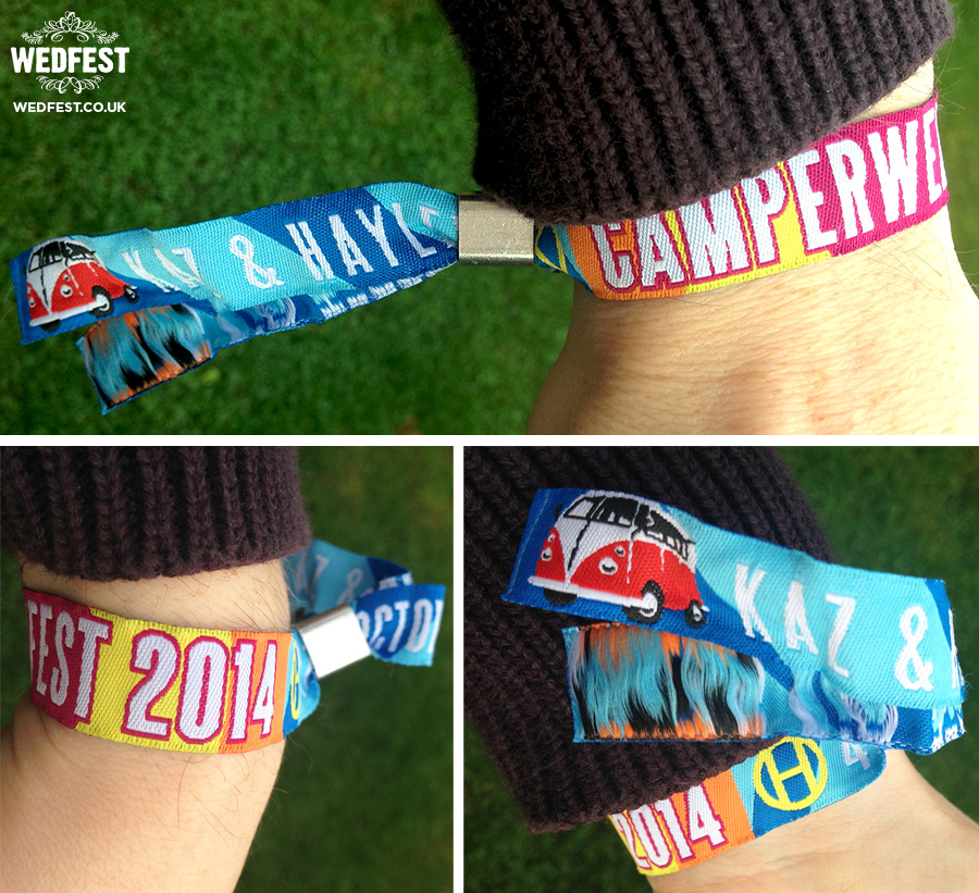 wedfest woven fabric festival wristbands