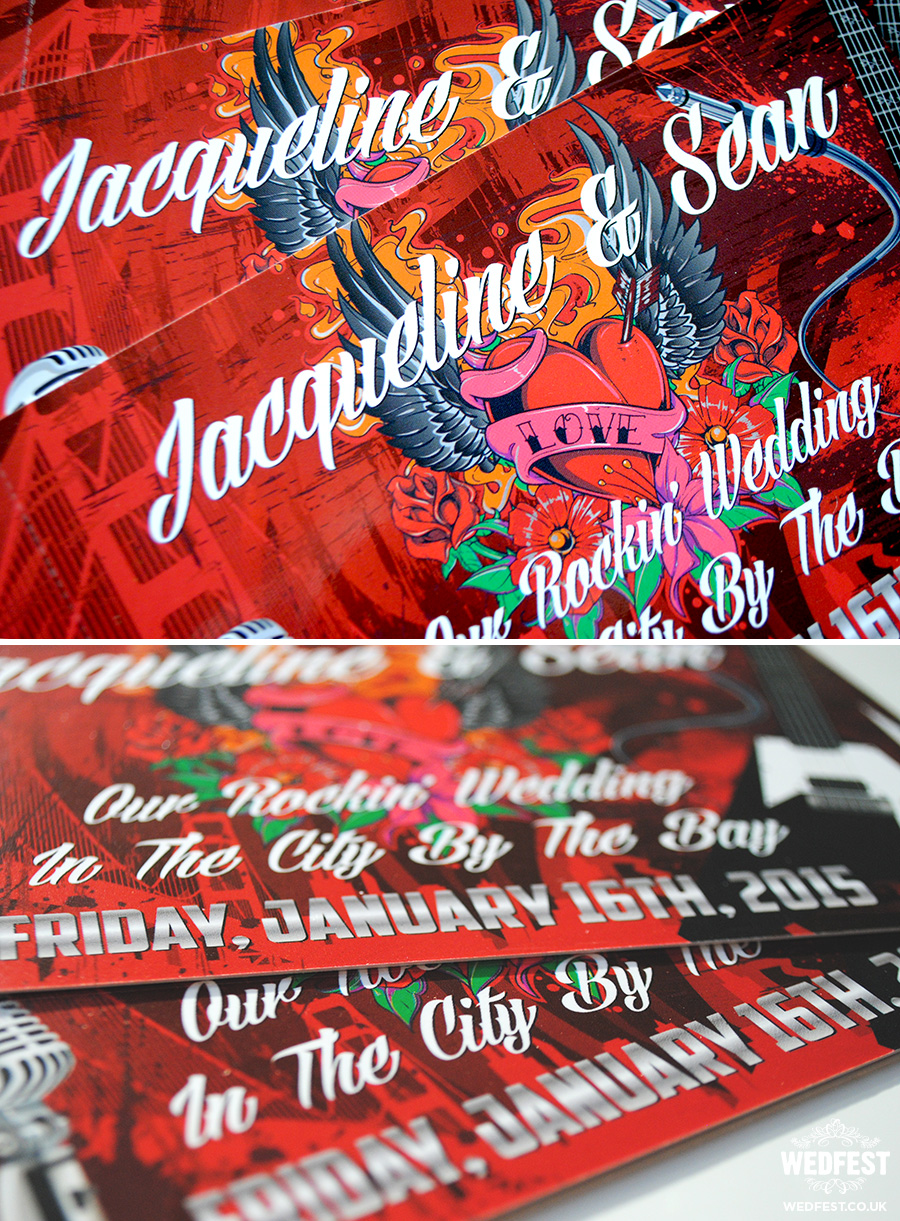 Rock n Roll Tattoo wedding invites