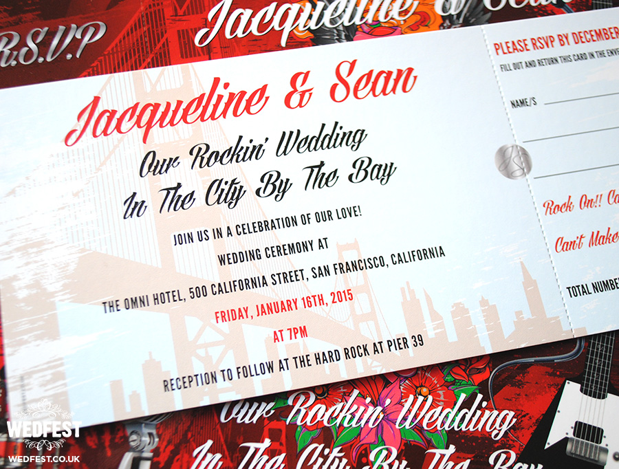 Rock n Roll wedding invites