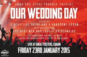 concert tickets wedding invites