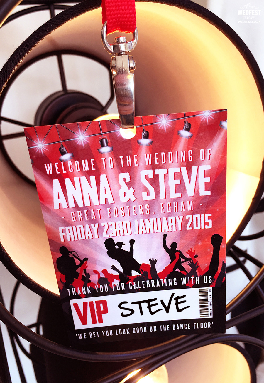 concert vip wedding lanyard
