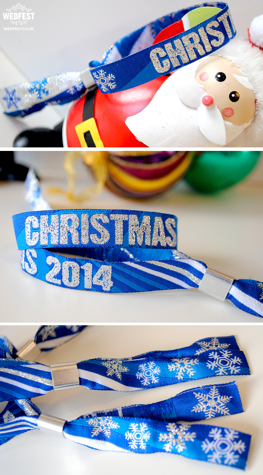 corporate christmas party fabric wristbands
