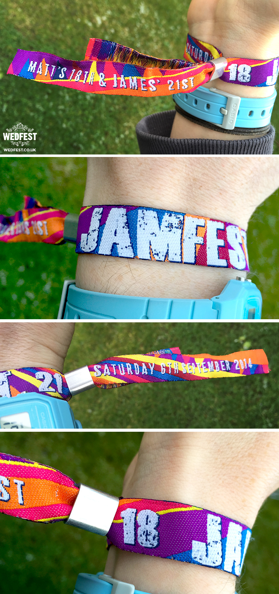 custom festival event wristbands for a birthday party