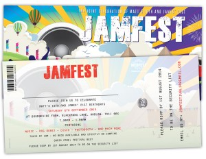 festival theme 18th & 21st birthday party invitations