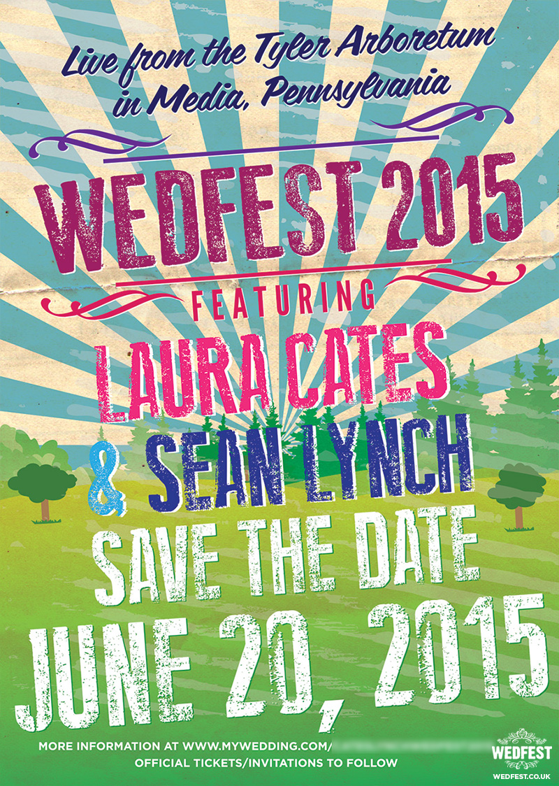 WEDFEST 2015 festival wedding save the date cards