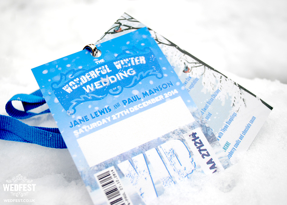 winter wedding vip pass lanyards
