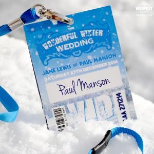 wonderful winter wedding vip lanyards