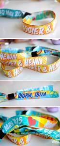 Ibiza Wedding Fabric Wristbands