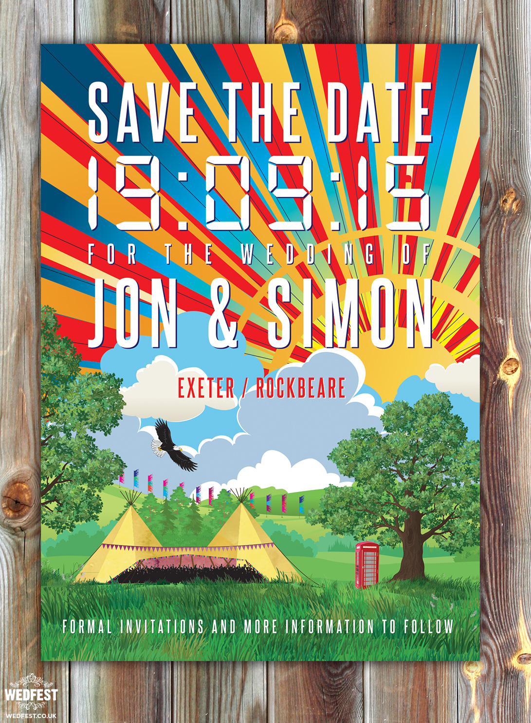Festival Wedding Save the Date