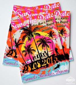 Beach Summer Wedding Save The Date Cards