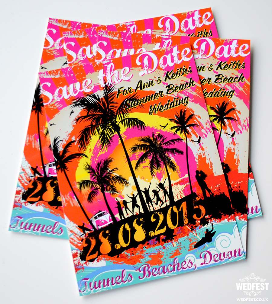 Beach Summer Wedding Save The Date Cards