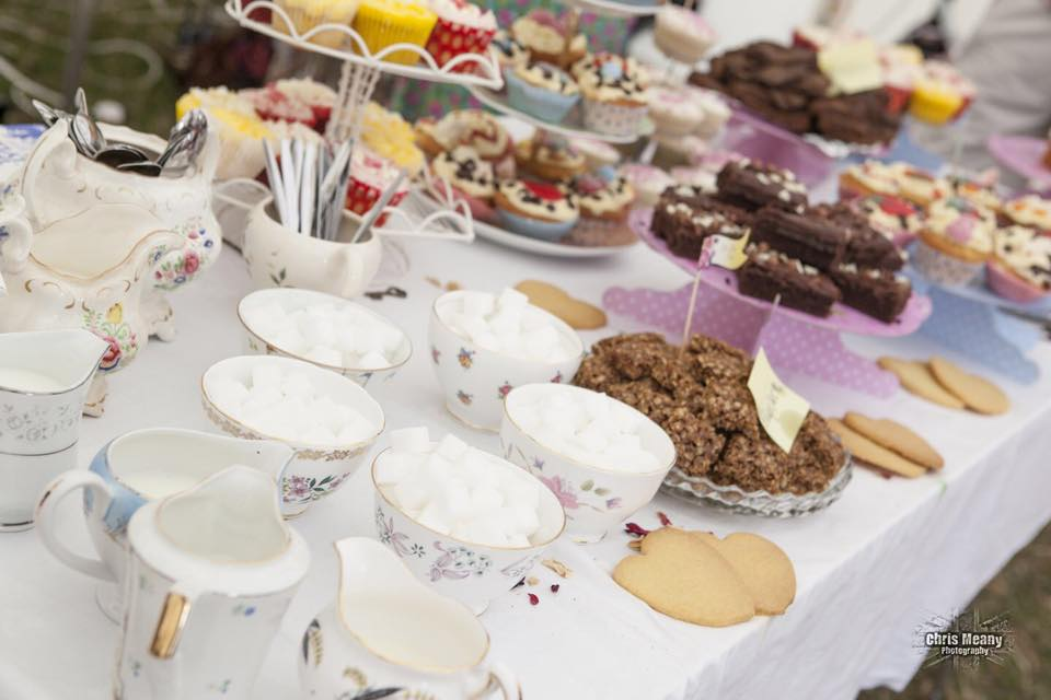 festival wedding vintage tea party