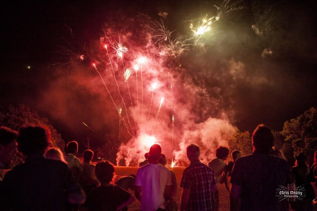 wedding festival fireworks