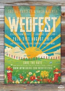 Wedfest Poster Wedding save the dates