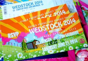 Wedstock Wedding Festival Invitations