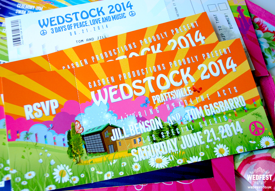 Wedstock Wedding Festival Invitations
