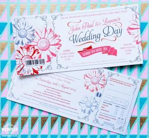 Gerbera Daisy Themed Wedding Invites