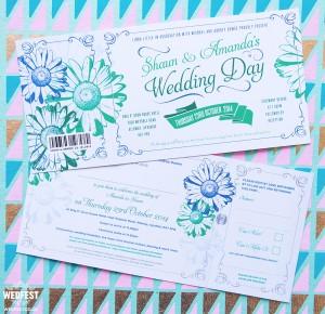 Gerbera Daisy Wedding Invites