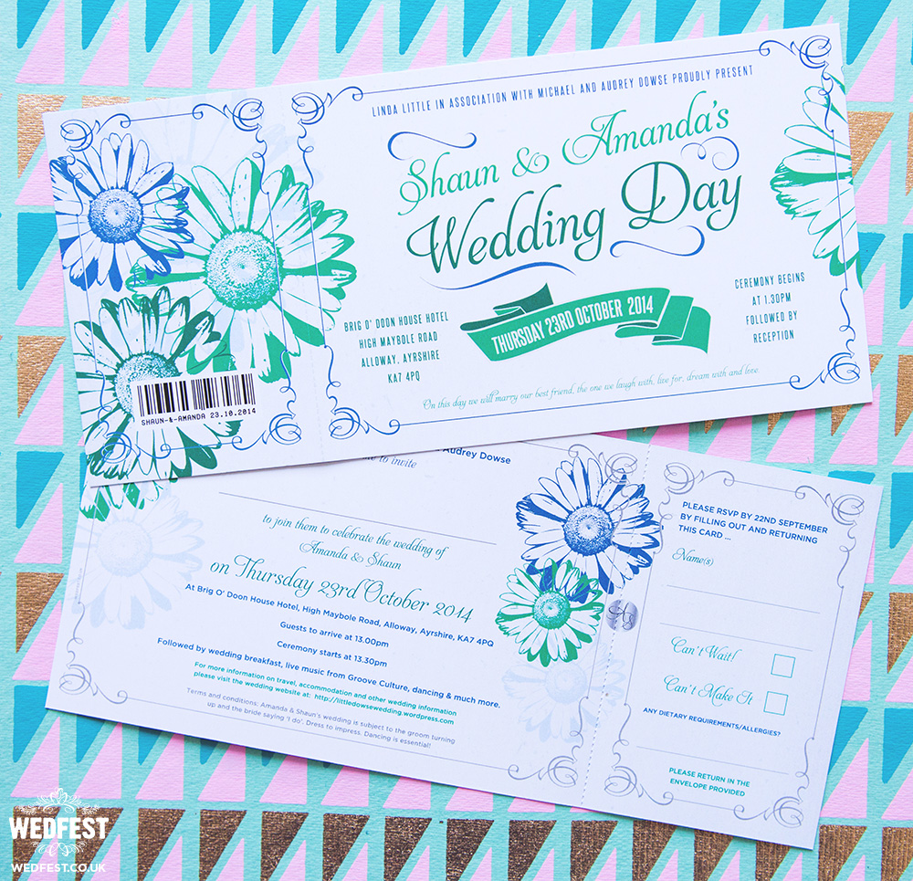 Gerbera Daisy Wedding Invites