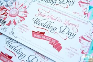 Gerbera Daisy Wedding Stationery