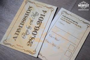 Shabby Chic Ticket Wedding Invites