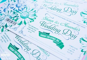 floral themed wedding invites