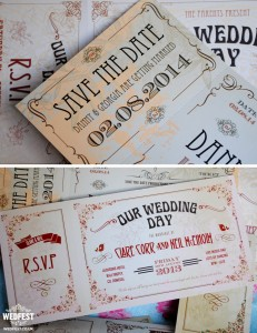 vintage chic wedding invite