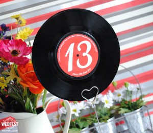 "7"" Vinyl Record Wedding Table Numbers"