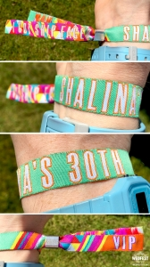 30th birthday party wristbands