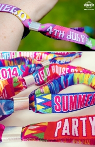 fabric wristbands from wedfest